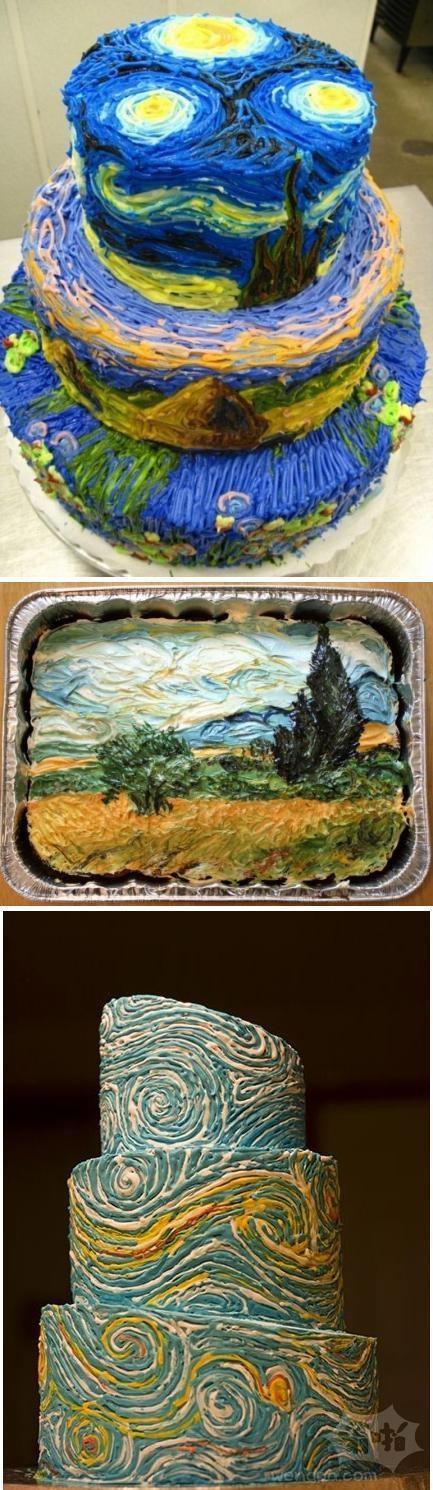创意无限:梵高的蛋糕