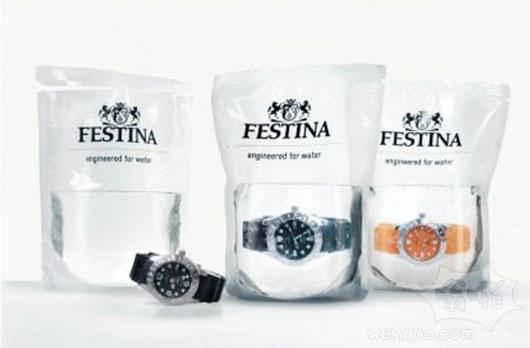 放在水袋里出售的防水手表