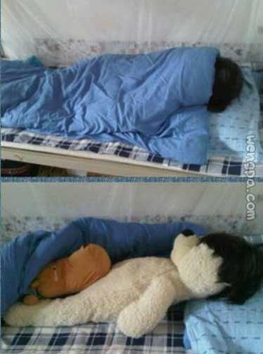 防寝室被突袭检查夜归~想要夜不归宿的,买熊吧