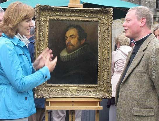 英女主持人菲奥娜布鲁斯父亲花400英镑,买到被鉴定为凡戴克真迹,价值40万英镑