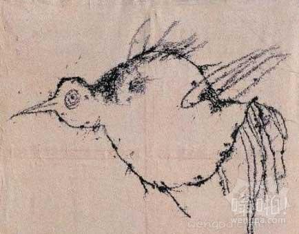 中国当代艺术专场,叶永青,《鸟》 估价25-35万元,25万元落槌 看完我就哭了,当初报错专业了啊。。