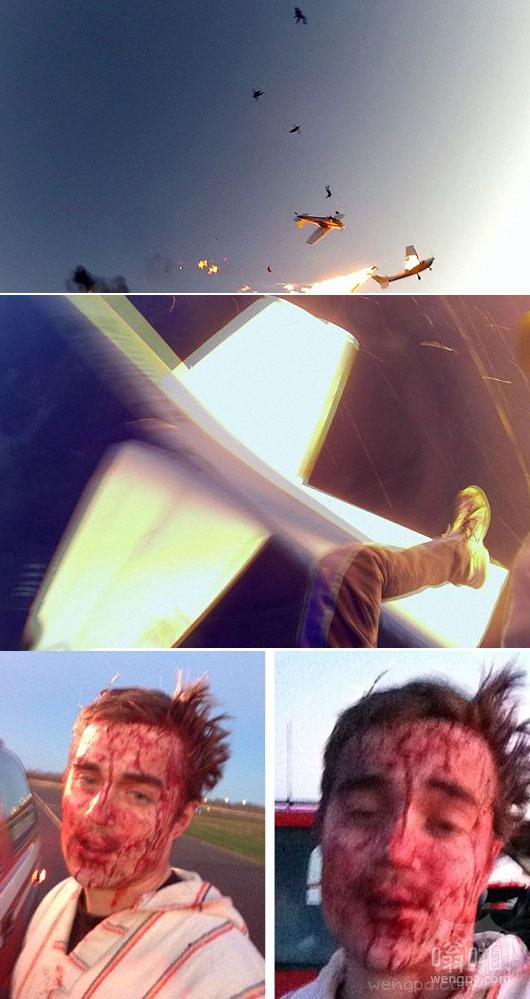 新的视频显示了疯狂的努力可怕的跳伞事故发生后爬出受灾面