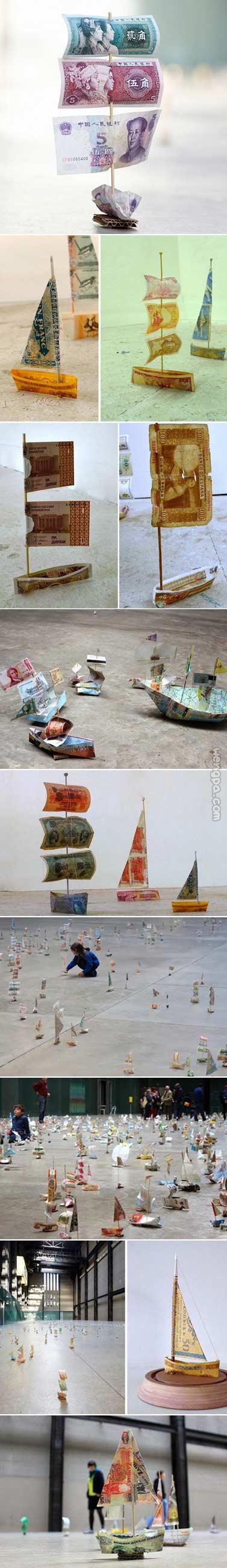世界各国纸币制造的船队