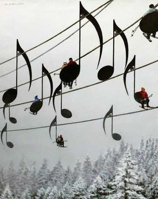 法国滑雪场的登山缆车,法国人的浪漫可见一斑!