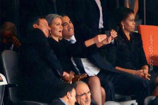 组图:从明星到政客,谁能抵挡手机自拍的自恋诱惑?
