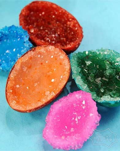 颜色漂亮的蛋形水晶