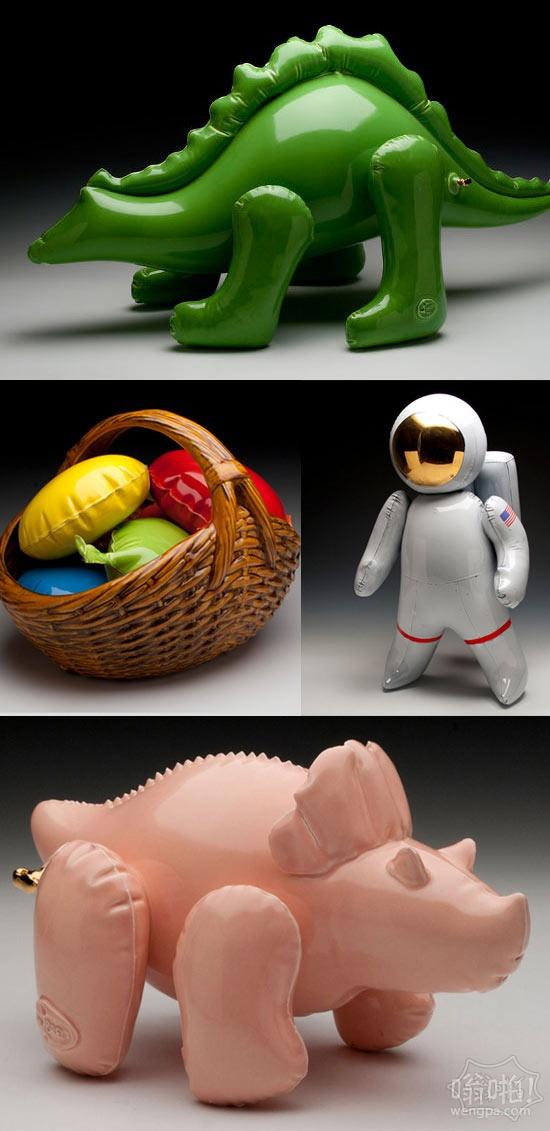 看起来像充气玩具的陶瓷雕塑