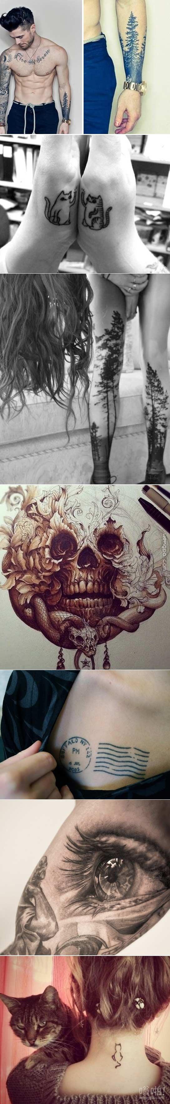 创意纹身。。