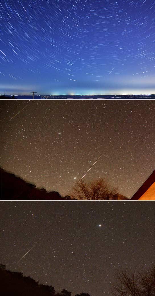 新年首场流星雨光临地球 现场犹如天降火球