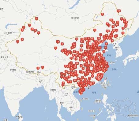 上面红色的地方都有邵逸夫的学校