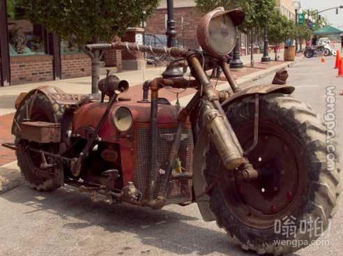牛人拖拉机改装成摩托车