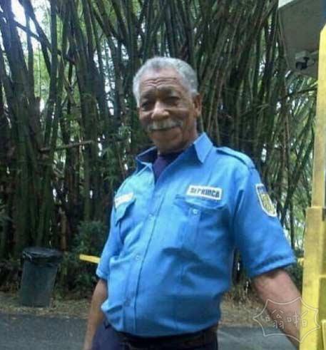这家伙看起来像摩根·弗里曼。他在委内瑞拉是一名保安。