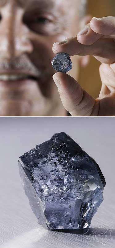 罕见价值千万英镑蓝色钻石被认为是迄今发现的最清晰的发现于南非