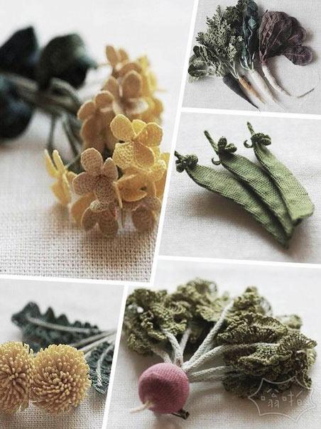 这些蔬菜都是毛线钩出来的