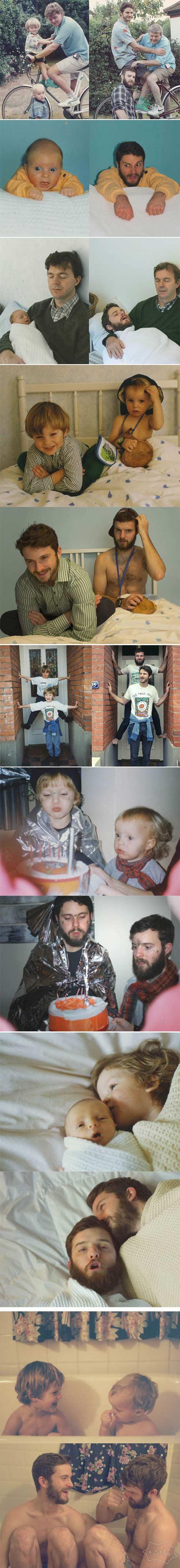 兄弟重现年轻时的时刻。