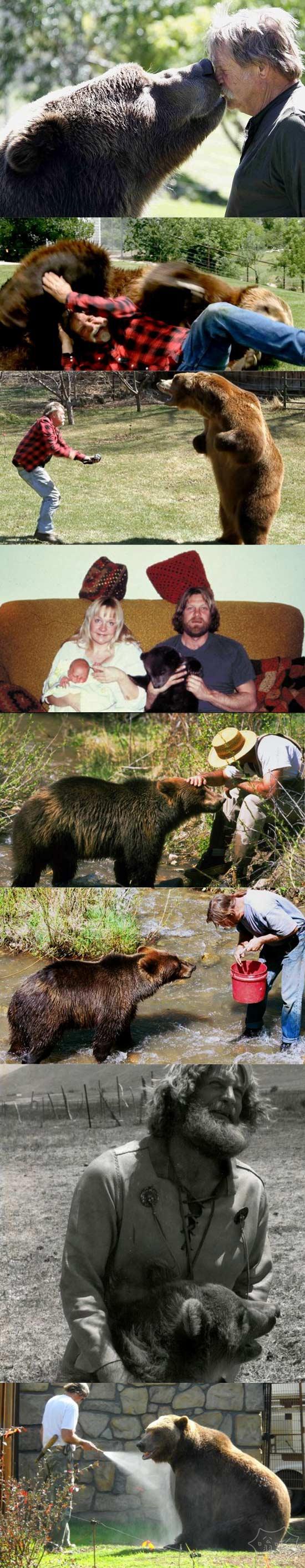 幕后:夫妇和他们家的电影明星灰熊之间的感人故事