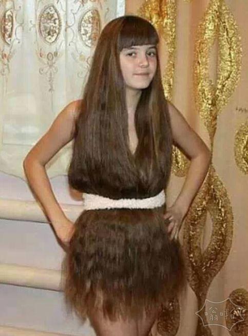 待我长发及腰,当裙子可好!
