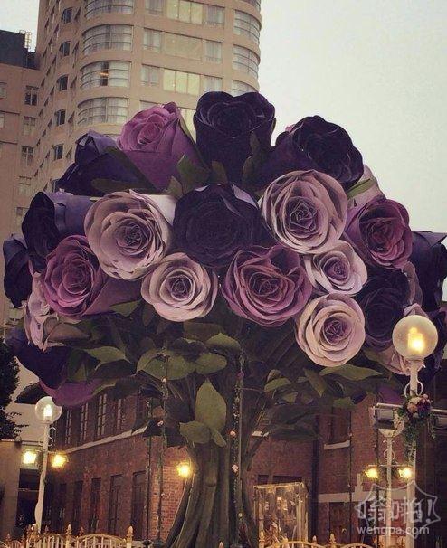 三層樓高的巨型玫瑰,美腻了