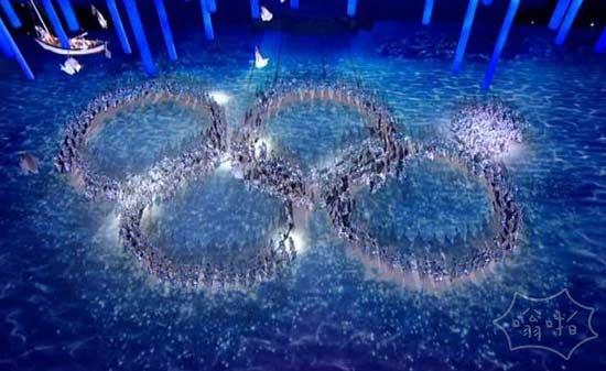 谁认为俄罗斯没有幽默感?通过嘲笑他们早期的奥运五环失败开始了闭幕式。
