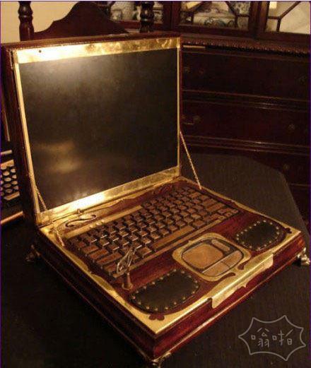 这么复古的笔记本见过的吗?