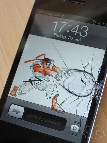 Phone屏幕破碎的补救办法