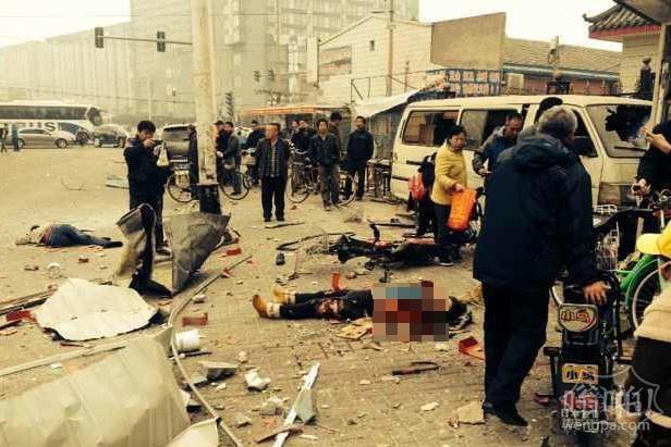 今天早上北京通州梨园一早餐店发生爆炸 现场有人员伤亡