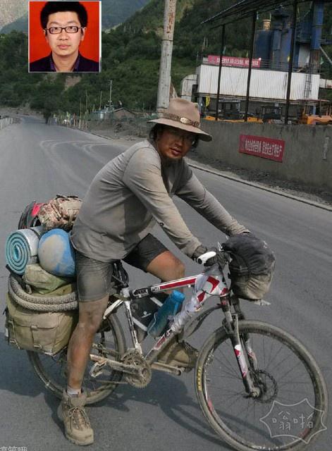 一哥们骑行去拉萨后的样子