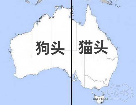 有没有注意到,如果你把澳大利亚地图一分为二看起来…