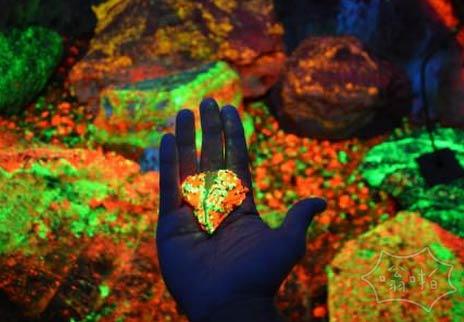 在中国的一个山洞里泛着矿物质,大家知道是什么吗