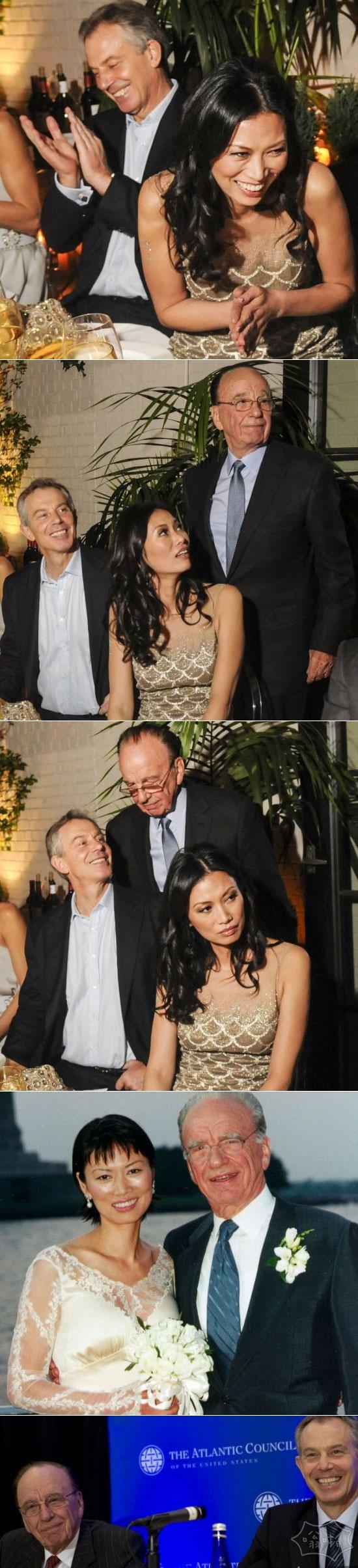 从来没有过出版,托尼·布莱尔,邓文迪和她的前夫默多克庆祝邓小姐的40岁生日派对在纽约举行。