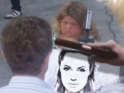 这是黑帮老大的女儿,你看着画吧