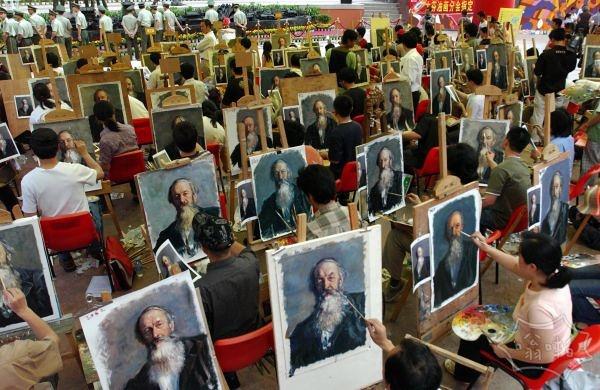 深圳大芬油画村绘画比赛