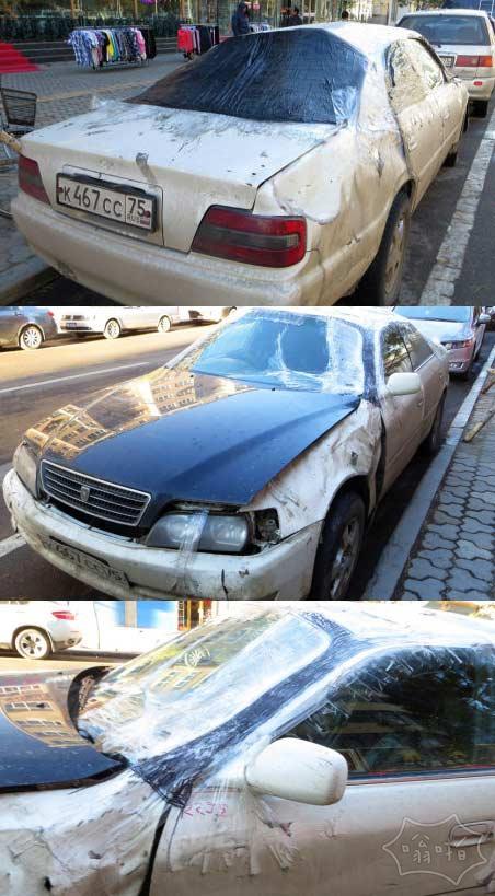 满洲里俄罗斯小商贩的汽车