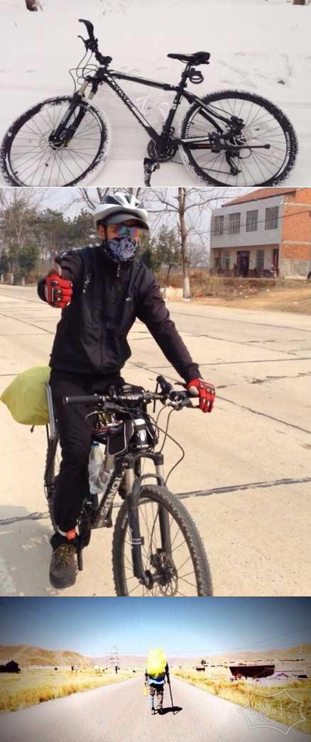 单腿残疾小伙骑车出游,到武汉单车拐杖均被偷