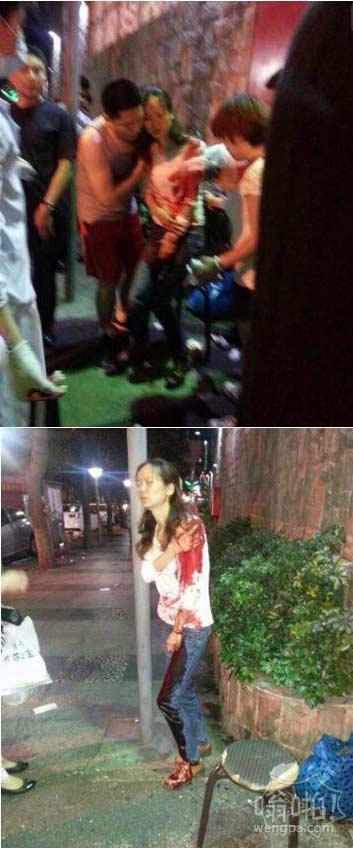 深圳龙华地铁站附近发生恶性砍人事件(现场图)