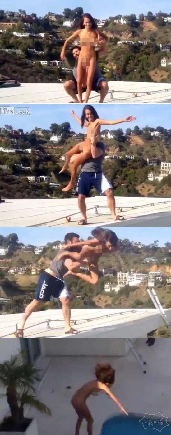 Instagram的花花公子丹Bilzerian从屋顶扔下一个色情明星,几乎杀了她(视频)