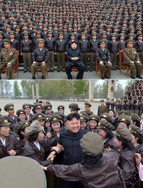 不要对着镜头笑一笑:坐着面无表情的男人是金正恩…之前他被他自己的野性军队女粉丝围攻