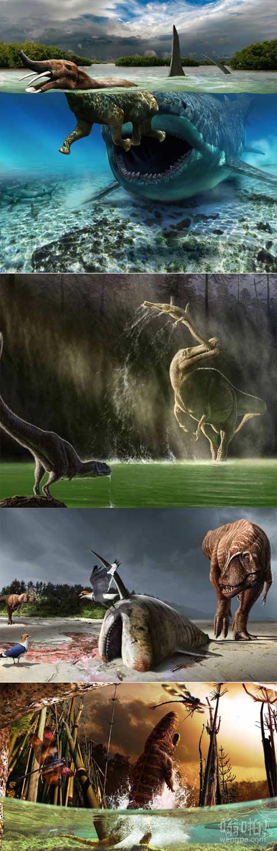 令人惊讶恐龙插图揭示了一个残酷的史前世界