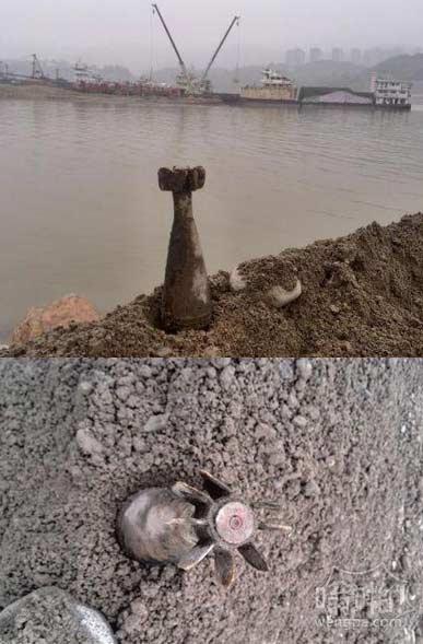 采砂也成高危职业:采砂工挖出38厘米长炸弹 疑日军昔日轰炸所留