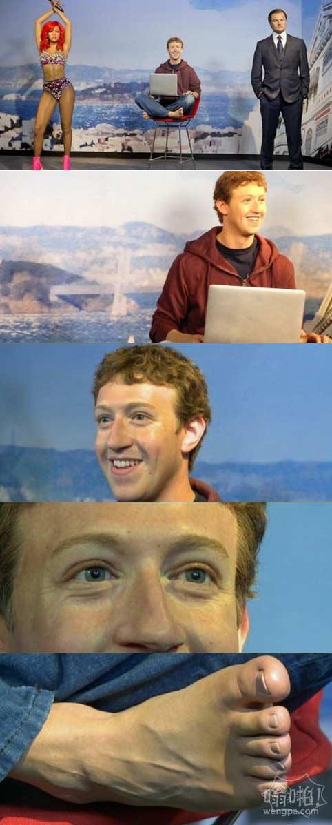 杜莎夫人蜡像馆的Facebook首席执行官马克·扎克伯格