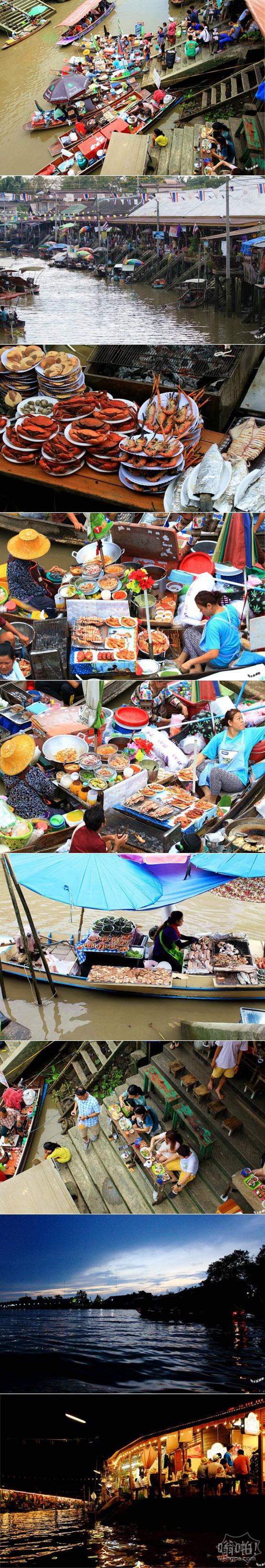 吃货的天堂:泰国曼谷安帕瓦水上市场