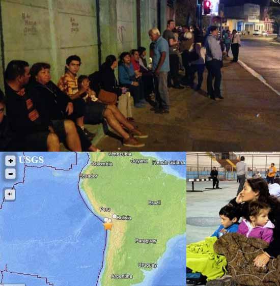 智利8.2级地震引发2米海啸  震源深度10公里 大楼摇晃(视频)