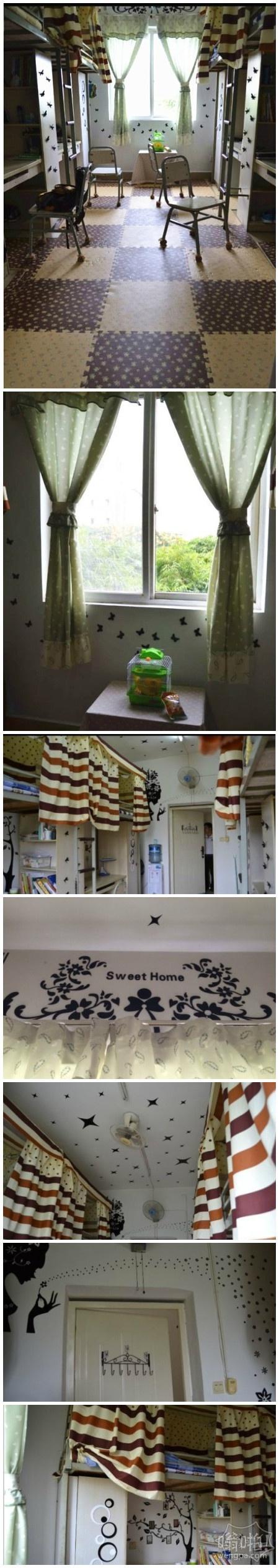 大学男生的小清新寝室:还让不让女生活