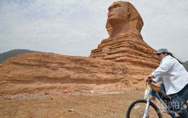 狮身人面像现身中国 山寨国外著名景点建筑惹争议