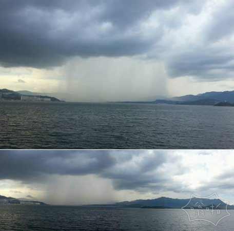 香港邂逅瀑布雨,顿时被惊呆。