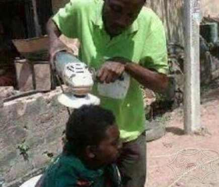 非洲人的理发方式