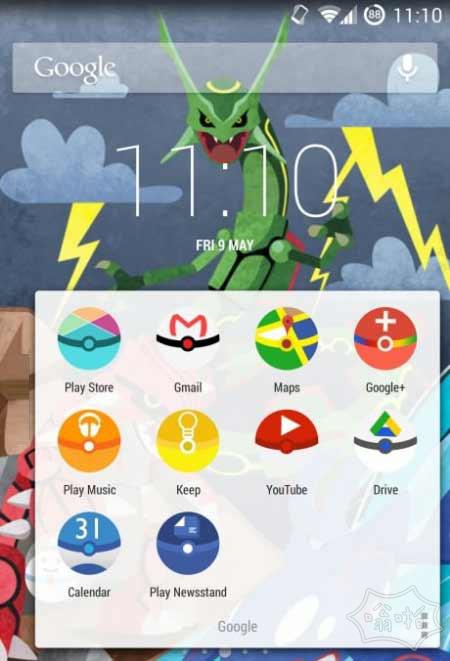 来自Pokéballs风格Android新icon图标和界面
