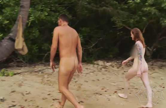 斐济一男一女在荒岛裸体生存21天?(视频)