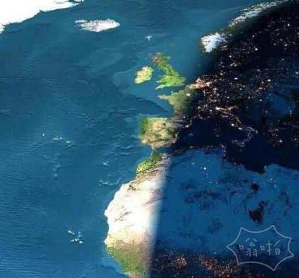 地理学了那么久的晨昏线~原来这么美啊~