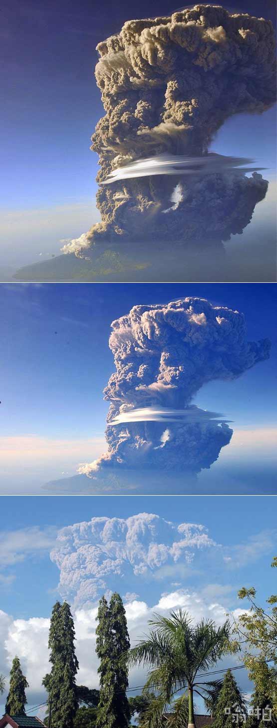 """印尼火山爆发:19000米高的火山灰云笼罩在印尼的""""精神之山"""""""